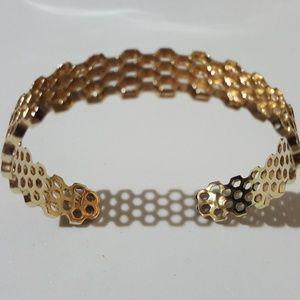 Mignon Faget Hive 3 Cuff Bronze Bracelet